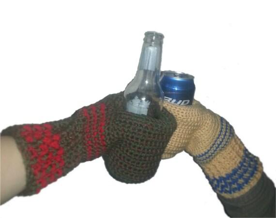 Handful Beverage Mittens Crochet Pattern Beer Mitts Coffee