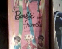 Whitman 1966 Barbie & Francie Paper Dolls- Magic Stay on