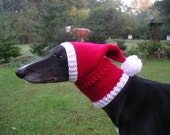 Greyhound/Galgo Santa Hat