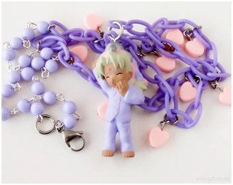 Love Hina, Kaolla Su Charm Necklace, Pink and Purple - Fairy Kei, Anime Jewelry