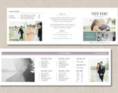 Photography Pricing Template Trifold Card for Photographers - Product Pricing Guide Template - Wedding Photographer Welcome Packet - m0116