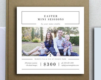 Photography Mini Session Templates for Photographers - 5x5 Photography Flyer - Holiday Designs for Professional Photographers