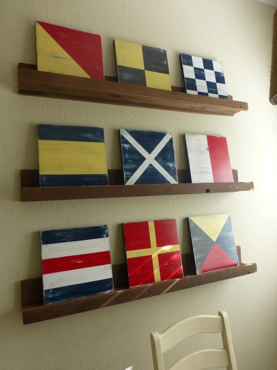 Nautical 12x12 Flag Code Signal Sign CUSTOM ONE large Nautical Beach Decor Spell Your Name