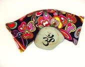 Savasana bold floral print Lavender and flax seed eye pillow for relaxation, yoga,  and meditation