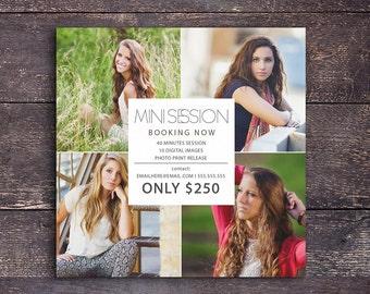 Modern mini session Marketing Board Template - Instant download