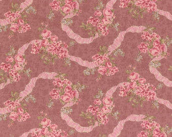 Antique Rose  Cotton Fabric by  Lecien Ribbons and Roses 31021-20