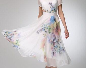 Women dress chiffon prom dress maxi dress (1248)