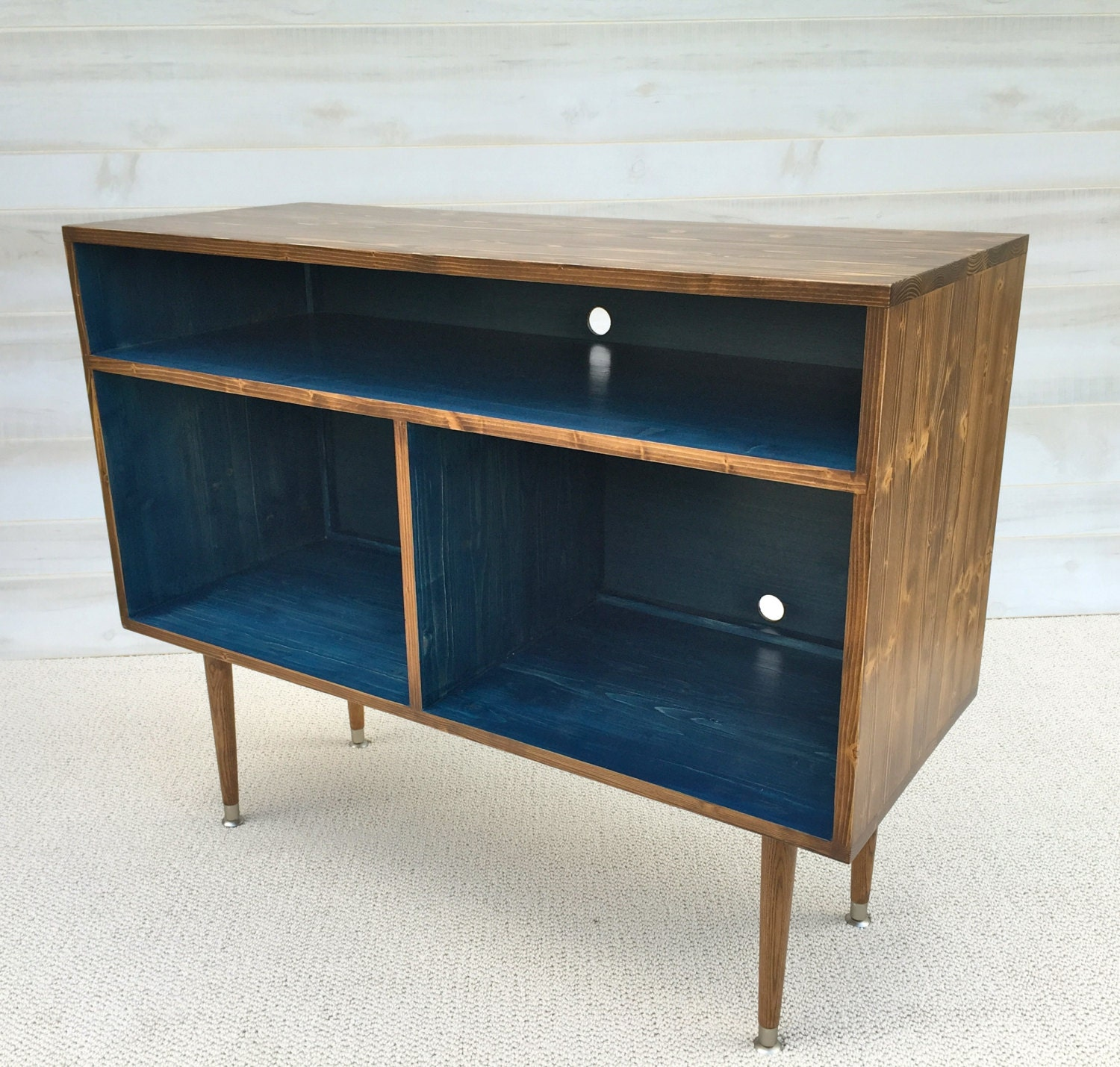 mid century modern record cabinet tv table media tv stand. Black Bedroom Furniture Sets. Home Design Ideas