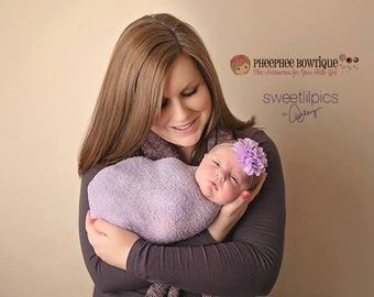 Lavender Flower Headband, Emma Petal, Newborn Headband, Baby Headband, Infant Headband, Photo Prop, Flower Girls, Weddings, School Bows