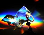 Crystal Sun Catcher 25 - The Octahedron