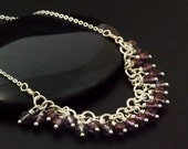 A Little Fringe Necklace with Czech Luster English Cut Round Beads - Ready to Wear or Kit - 100% Guarantee