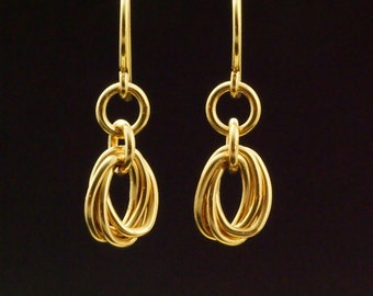 14kt Gold Filled Oval Mobius Earrings - Kit or Ready Made