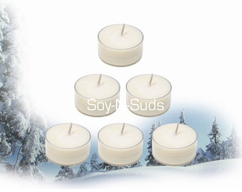 FIRST SNOW Scented Soy Tea Light Candles