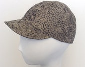 Retro bike cap, unisex, bicycle, rain hat, fabric #81, limited edition. Free shipping in the US.