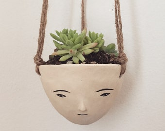MADE TO ORDER.  face hanging pot