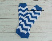 Baby Leg Warmers Royal Blue Chevron Baby Girl Toddler