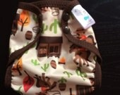 Cowboy Poly PUL Cloth Diaper Cover With Aplix Hook&Loop Or Snaps You Pick Size XS/Newborn, Small, Medium, Large, or One Size