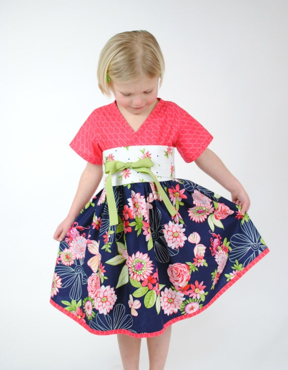 Asian dress girl print toddler