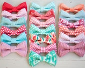 The Beau- men's coral/mint/peach/blush collection pre-tied bow ties- (adjustable strap or clip selection)