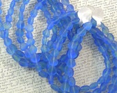 Blue Seashell Glass Beads 60% off, qty 100