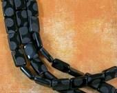 Black Dots 15mm Glass Beads 60% off, qty 14