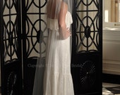 Bridal Veil - Cathedral Veil with Raw Cut Edge in White, Diamond White, Light Ivory, Ivory or Champagne