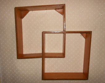 Double square or Diamond Shadow box shelf Plant stand