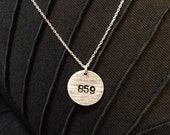 Silver Area Code Necklace