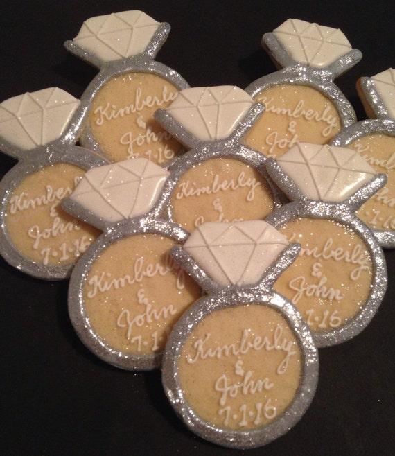 engagement ring cookies 30 by kjcookies on etsy