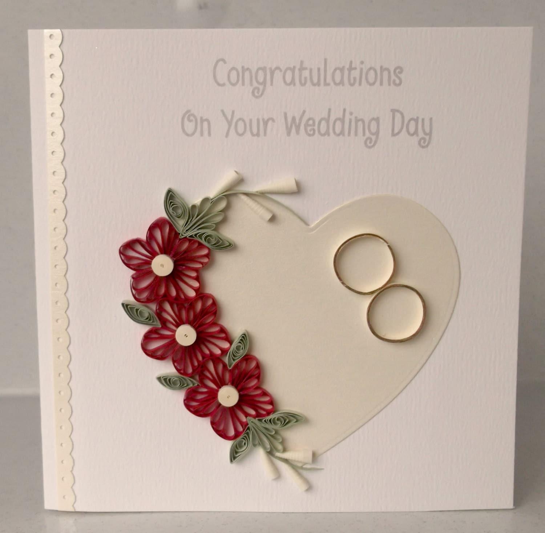 Wedding Congrats: Quilled Wedding Congratulations Card