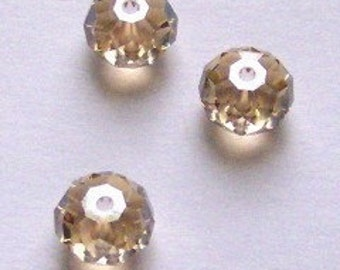 Swarovski crystal beads Rondelle SPACER 5040 Crystal elements GOLDEN SHADOW genuine Swarovski crystals -- Available in 2 sizes