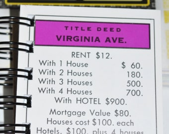 Virginia Ave Monopoly Notebook