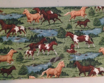 Horses in pasture, Water Grass Pillowcase  243337