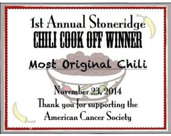 Chili cook off printable certificates for Chili cook off award certificate