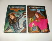Group of Vintage 1972 Kim Aldrich Mystery Books - Miscalculated Risk and Silent Partner by Jinny McDonnell