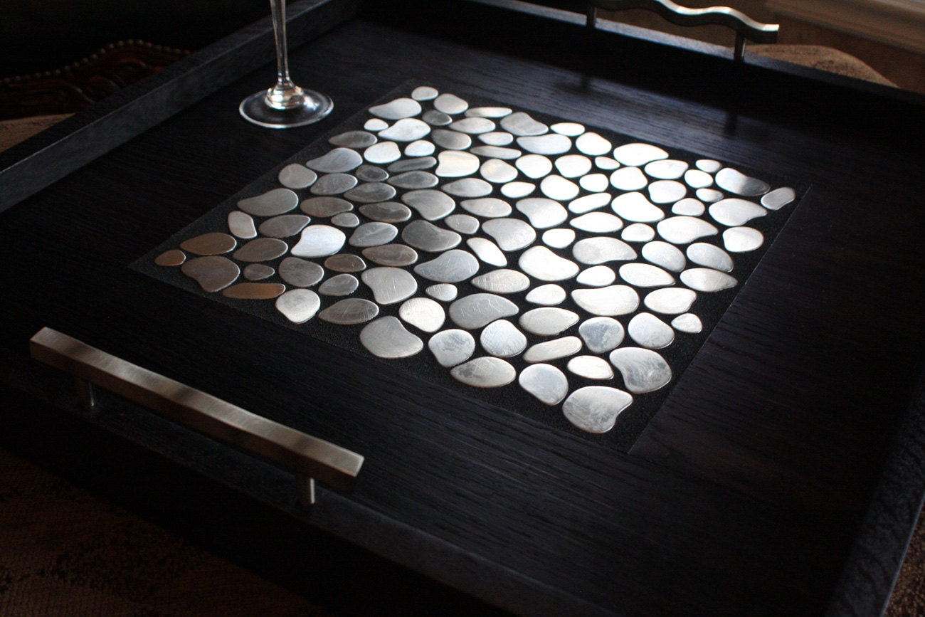 Black Serving Tray For Ottoman