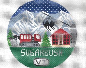 Sugarbush Vermont Needlepoint Christmas Ornament