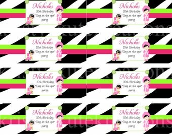 Zebra Day Spa Napkin Rings -DIGITAL Check out the matching designs