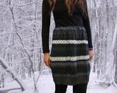 Cozy Geometric Knit Winter Mini Skirt
