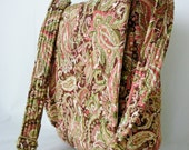 Messenger Bag Ipad Bag Travel Bag Hipster Cross Body Adjustable Strap Vera Bradley Type Floral Paisley Pink Green Brown