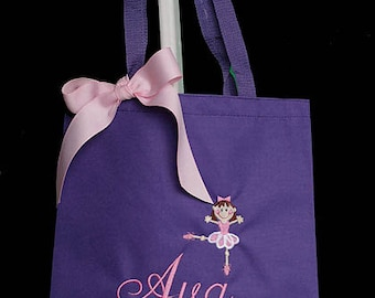Dance Bag, Ballet Bag, Personalized Ballet Dance Monogram Tote Bag with Ballerina, Custom Dance Bag, Personalized Dance Bag, Birthday Gift