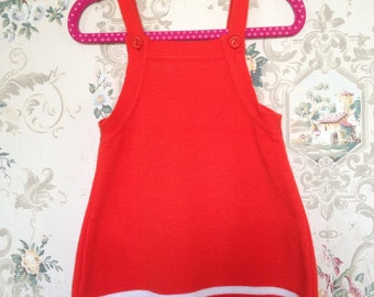 Orange mod infant sweater dress 9-12m