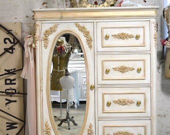 Painted Cottage Chic Shabby Romantic French  Dresser LGCH26