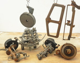 7 salvaged typewriter parts for your assemblage Steampunk project