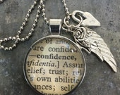 One Word Necklace with Charms- Confidence
