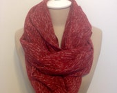 Red Sweater Infinity Scarf