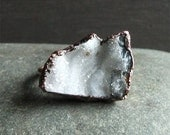 Druzy Crystal Ring Rough Stone Jewelry Copper Raw Stone Ring Midwest Alchemy Statement Ring