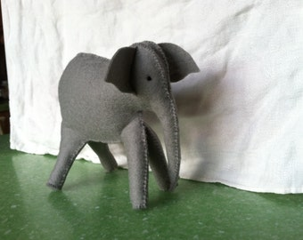 Mini-stuffed Elephant - custom order -  made to order