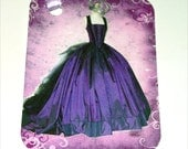 Purple Gown Gift Tags , Set Of 6 , Prom Dress Tags , Bridesmaid Tags , Glamorous Dress Tags