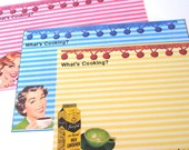 Recipe Cards - Set Of 12 - Retro Housewives - !950's Cards - Mid Century Cards - Sarcastic Housewives  - Kitchen Cards - Retro Cooking Cards